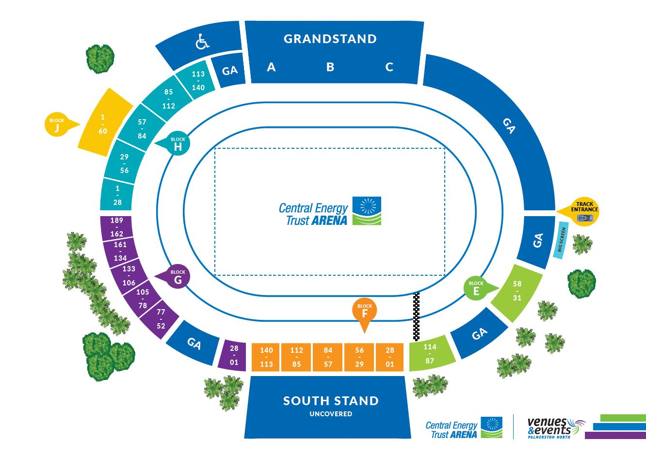 Arena 1 map - click to view larger version